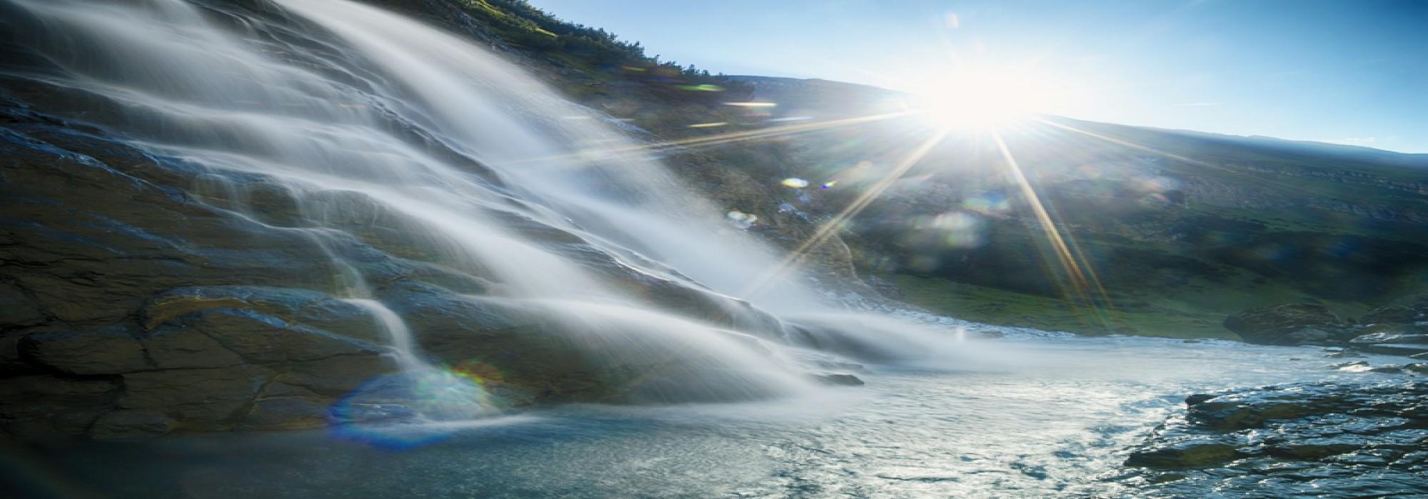 Bergflüsse in Flims Laax