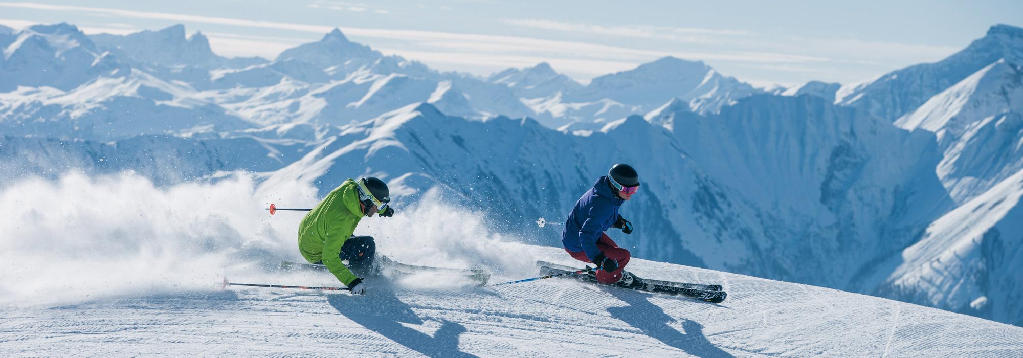Skiferien Laax/Flims - 2 Skifahrer