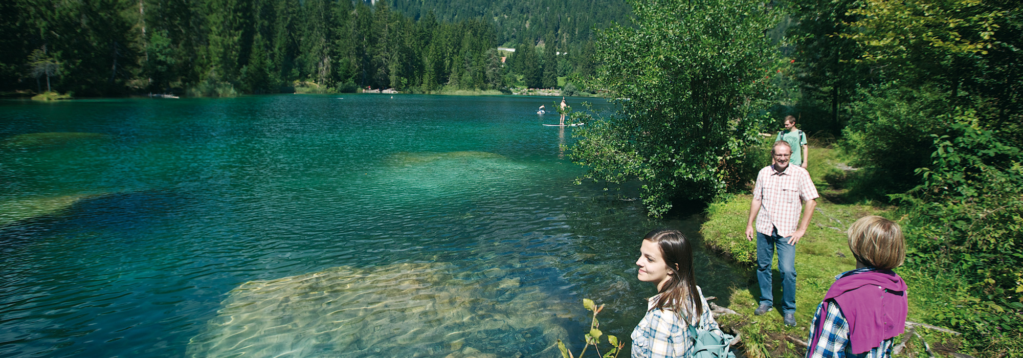 Hiking Flims at the Lake