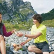 Bikferien Flims - Picknick am Fluss