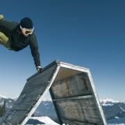 Skiferien Laax Freeride Snowboard