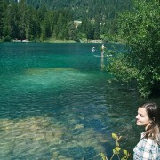 Hiking in Flims at the lake